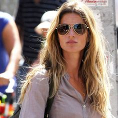 The queen of cool, tousled waves  Gisele Bundchen: Beach Hair: Beauty: Hair Trend: Red Online