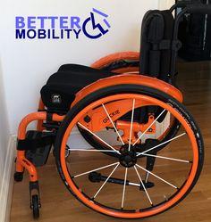 #Quickie #Xenon #wheelchair #wheelchairs #disability #disabled #orange #spokes