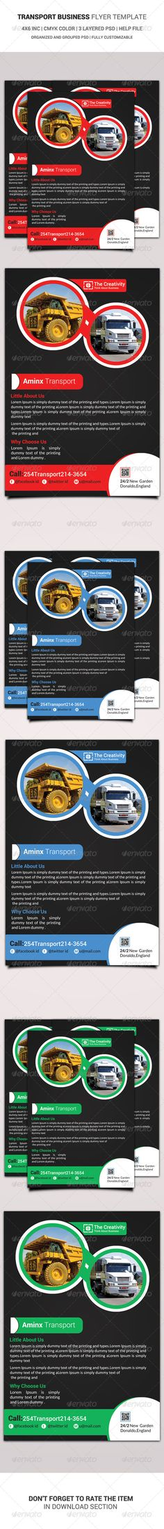 Transport Business Flyer Template  #GraphicRiver