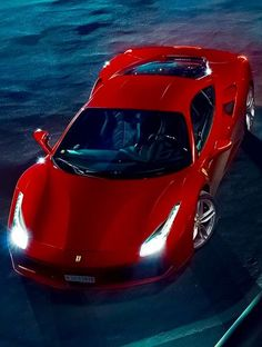 The Ferrari 488 GTB was unveiled at the 2015 Geneva Motor show and is currently in production. The car is an update for the Ferrari 458 with the 488 sharing some of the design an components. 488 Gtb, Ferrari 488, Geneva Motor Show, All Cars, Car Insurance, Sport Cars, Exotic Cars, Luxury Cars, Dream Cars