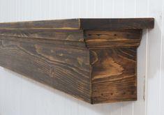 Rustic Mantel shelf, Floating Mantel, Floating Shelf, Rustic Mantel, Mantel, Primitive Mantle, Mantel Shelf, Fireplace, Farmhouse decor by AnjowgaWoodworks on Etsy https://www.etsy.com/listing/473729498/rustic-mantel-shelf-floating-mantel