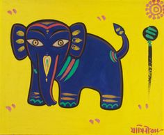 View Untitled Elephant by Jamini Roy on artnet. Browse upcoming and past auction lots by Jamini Roy. Indian Folk Art, Indian Artist, Indian Paintings, Easy Paintings, Art Painting Gallery, Worli Painting, Pottery Painting, Jamini Roy, Indian Arts And Crafts