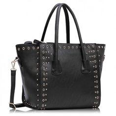 Luxury Black Croc Style Tote Bag, Size: x High. Tote Handbags, Crocs, All Black, Totes, Tote Bag, Fashion, Crocheted Purses, Moda, Bags