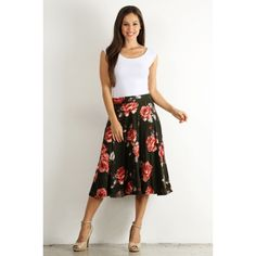 Florals Never Faileth - a sister missionary modest skirt in olive green.