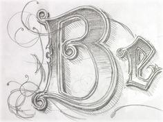 hand drawn type beauty