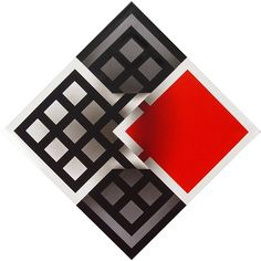 OMAR RAYO Op Art, Paving Stone Patio, Red And White Quilts, Tangle Art, Fractal Art, Optical Illusions, Accent Colors, Vintage Designs, Illustrators