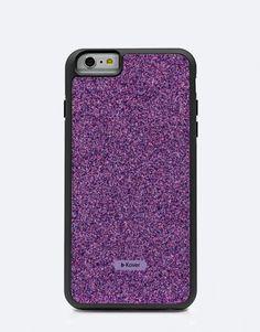 funda-glitter-morado Phone Cases, Electronics, Mobile Cases, Lilac, Consumer Electronics, Phone Case
