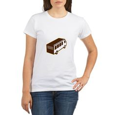 Van High Angle View Isolated Retro T-Shirt