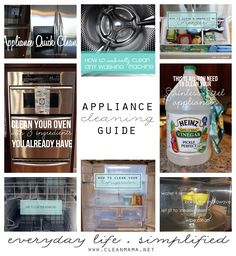 Want to know the quickest, easiest, and safest way to clean your appliances?  Check out this post from Clean Mama!