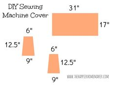 Super Duper Easy DIY Sewing Machine Cover