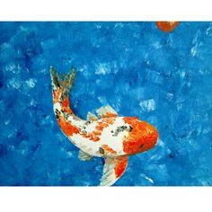 Koi, original acrylic painting by Kris Fairchild. Original has sold.  Prints available.