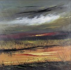 Marsh Land by David V. Painting Print on Wrapped Canvas