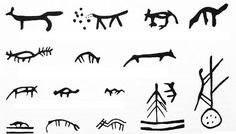Shaman´s drum symbols in Scandinavia- the wolf. Lappland, Ancient Symbols, Ancient Art, Native American Animals, Animal Symbolism, Power Animal, Thinking Day, Fox Art, Norway
