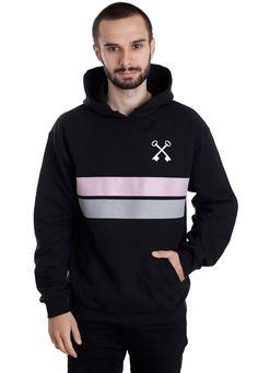 Hundredth - Stripes - Hoodie - Official Post Hardcore Merchandise Online Shop - Impericon.com Worldwide