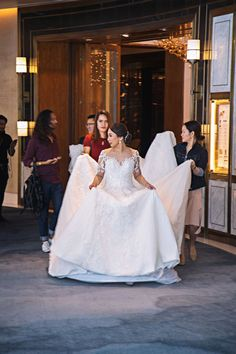 Our bride Hazel celebrated her wedding day in a royal and lavish way. She carefully walks in her Hannah Kong designed bridal gown, ready to walk down the aisle. Bridal Gowns, Wedding Gowns, Wedding Day, Whimsical Fashion, Walking Down The Aisle, Walks, Brides, Feminine, Elegant