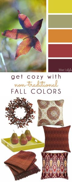 Blue i Style: {decorating with style} Get Cozy with Non-Traditional Fall Colors: Part 1