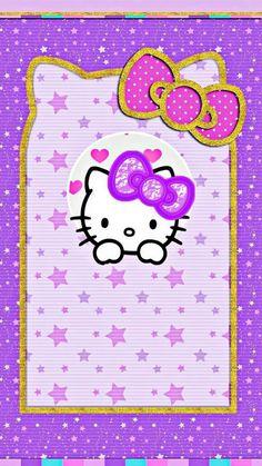 New wallpaper phone cute flowers hello kitty Ideas Lit Wallpaper, Trendy Wallpaper, Cute Wallpaper Backgrounds, Pattern Wallpaper, Cute Wallpapers, Iphone Wallpapers, Purple Wallpaper, Hello Kitty Backgrounds, Hello Kitty Wallpaper