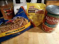 If you use the entire bag of pasta you'll easily feed 6 people. Try mixing shredded cabbage in at the end! Sausage Pasta, Cheap Meals To Make, Food To Make, Penne Pasta, 30 Minute Meals, Sauce Recipes, Dollar Tree, Easy Dinner Recipes
