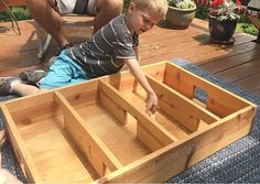 DIY Box Hockey Game with Popsicle Sticks and Bottlecap - Little Red Window Wood Projects, Woodworking Projects, Make Your Own Game, Hockey Games, Played Yourself, Popsicle Sticks, Diy Box, Little Red, Popsicles