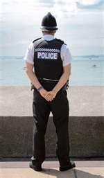 Policeman pose.  On watch?