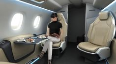 Bussines jet cabin concept on Behance