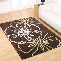 Flair Infinite Atria Brown - Lime - White Rug Created from a luxurious super soft polyester pile, each are designed to offer contemporary high fashion and outstanding value. Floor Cloth, Floor Rugs, Contemporary Rugs, Modern Rugs, Lime Green Rug, Hall Runner, Brown Rug, White Rug, Design Crafts