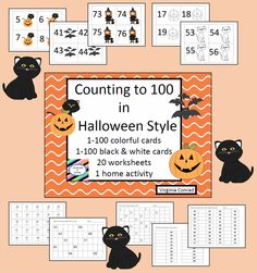 this packet will get your kids excited about counting 1-100---the cards are all dressed up for Halloween