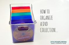 EASY Way to Organize DVDs