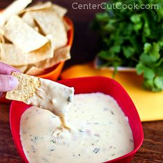 Cheesy, creamy, incredibly smooth with just the right amount of 'kick,' this Queso Blanco is the perfect dip for Cinco De Mayo!