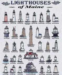 Lighthouses of Maine :::: Boon Island, Whaleback, Pemaquid Point, Halfway Rock, Prospect Harbor, Owls Head and Rockland Breakwater.