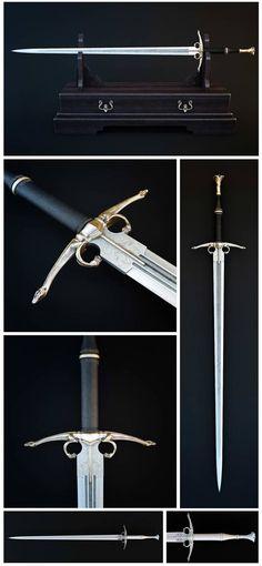 Dragon's Sword by HorheSoloma on DeviantArt – katana Fantasy Sword, Fantasy Weapons, Anime Weapons, Swords And Daggers, Knives And Swords, Arte Ninja, Dragon Sword, Cool Swords, Sword Design