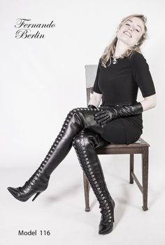 Boots are actually fashionable and there is large option from flat-heels to stilettos, wedges, and platforms, boots are whatever in between. Thigh High Boots Heels, Hot High Heels, Heeled Boots, Shoes Heels, Leather Fashion, Fashion Boots, High Heel Stiefel, Crotch Boots, High Leather Boots