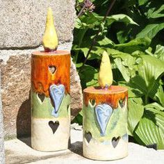 Bildergebnis für weihnachtsdeko keramik (candle vases) Clay Projects, Clay Crafts, Diy And Crafts, Paper Clay, Clay Art, Ornament Drawing, Ceramic Light, Garden Whimsy, Pottery Classes