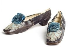 Embroidered ballet shoes, 1870.