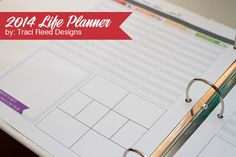 2014-Life-Planner-by-Traci-Reed-Designs---Perfect-for-Project-Life-Organization @Katie Hrubec Schmeltzer Schmeltzer chiet