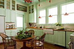 Нежная мятная кухня   Sweet home