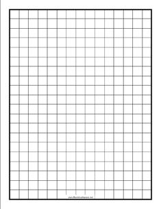 This blackline master features a grid with lines spaced half an inch apart. Free to download and print