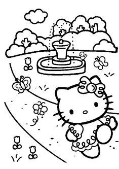 Kleurplaat Motorfiets Hello Kitty Angel Coloring Page Coloring Digi