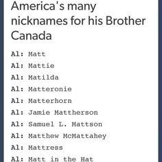 Why do I feel like America treats Canada the exact way Mr. D treats Percy?