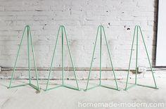 HomeMade Modern DIY The Easy DIY Table Supplies heavy duty trestle legs set $184.