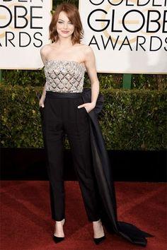 Look du Jour : Emma Stone aux Golden Globe Awards  http://fashions-addict.com/Look-du-Jour-Emma-Stone-aux-Golden-Globe-Awards_408___15339.html