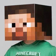Máscara Minecraft Steve   Disfraces Originales