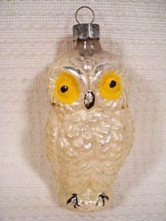 Vintage Christmas Ornaments | ... Antique Glass Owl Christmas Ornament - Christmas Ornaments Sale