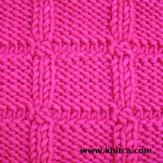 Wrong side of knitting stitch pattern - Knit & Purl 2