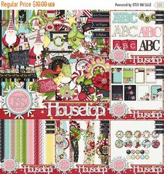 On Sale 50% Off Christmas,Holiday,Santa,Up On The Housetop Kit Collection, Digital Scrapbooking, Scrapbook, Instant Download by JssScrapBoutique on Etsy https://www.etsy.com/listing/254657828/on-sale-50-off-christmasholidaysantaup