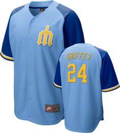 Ken Griffey Jr. Seattle Mariners Blue Nike Cooperstown Quick Pick Player Jersey
