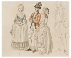 View Group portrait of Fanny Burney, Susan Burney, Richard Burney and Mr. Samuel Crisp by Paul Sandby on artnet. Browse upcoming and past auction lots by Paul Sandby. 18th Century Clothing, 18th Century Fashion, 19th Century, Military Art, Military Officer, 18th Century Costume, Rococo Fashion, Art Studies, Portrait Art
