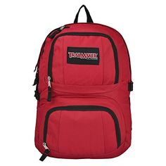 18.5 inch Red Durable Children School Bookbag / Outdoor Sports Backpack / Travel Carry On Bag - MyGift - Click image twice for more info - See a larger selection of red  backpacks at http://kidsbackpackstore.com/product-category/red-backpacks/. - kids, juniors, back to school, kids fashion ideas, teens fashion ideas, school supplies, backpack, bag , teenagers girls , gift ideas, red