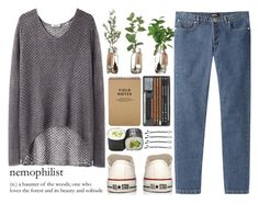 """""""Solitude"""" by tania-maria ❤ liked on Polyvore featuring Helmut by Helmut Lang, A.P.C., Converse and BOBBY"""