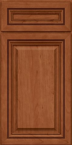 Square Raised Panel - Solid (ALC) Cherry in Ginger - Base